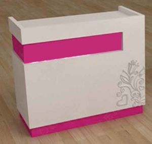Pink Grain Checkout Counter with Wood