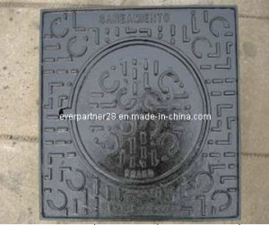 Ductile Iron Round Manhole Cover and Square Frame pictures & photos