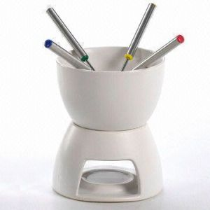 Heat-Resistant Ceramic Fondue Set (BL-67)