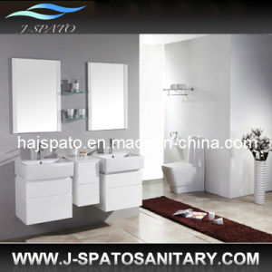 Hanging Wooden Morden Bathroom Vanities (JS-9013)
