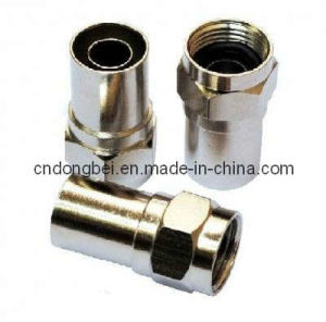 CATV HFC System Drop Coaxial Cable 75ohm F Conic Connector
