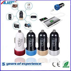 Portable 2 USB Car Charger Double Sided Car Charger