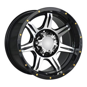 Black Machine Face Golden Rivets Alloy Wheels pictures & photos