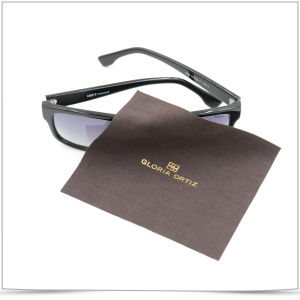 Hot Gold Stamping Ultra Fine Fiber Sunglasses Cleaning Cloth pictures & photos