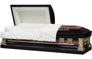 Jeff Bronze Stainless Steel Brushed Casket pictures & photos