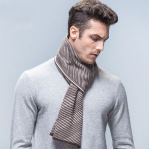 Men′s Fashion Striped Wool Acrylic Woven Winter Scarf (YKY4613) pictures & photos