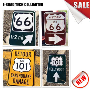 Traffic Signs China Factory 3m Reflective Tape Safety Traffic Sign with  Aluminum Sheet