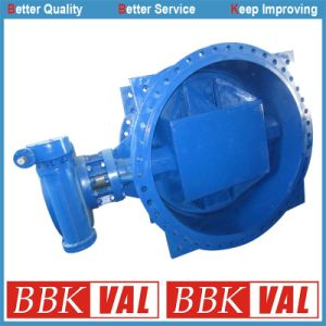 Actuated Double Eccentric Double Flange Butterfly Valve pictures & photos