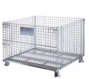 Folding Wire Mesh Storage Cage, Warehouse Container (YD-K) pictures & photos