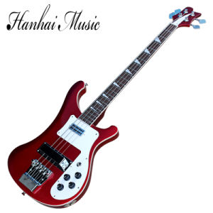 Hanhai Music / 4 Strings Ricken Style Metallic Red Electric Bass Guitar pictures & photos