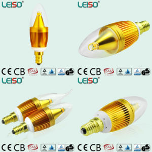 Golden Color Housing LED Candle Light (E14 bulb) pictures & photos