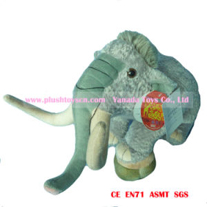 35cm Simulation Elephant Plush Toys (step on stump)