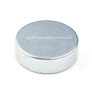 Sintered N33-N52 Disc NdFeB Magnet with Zn Coating for Motors