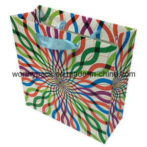 Glossy Paper Gift Bag with Ribbon Handle