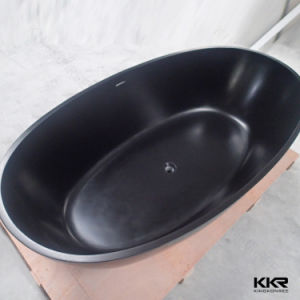 Europe Style Rectangle Black Gel Coat Stone Resin Bathtub pictures & photos