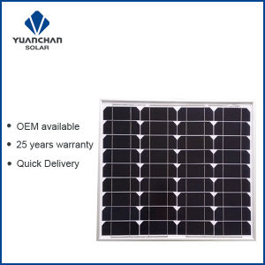 Yuanchan 50W Mono Solar Panel with Low Price and High Quality