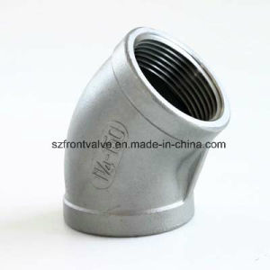 Investment Casting Stainless Steel 304/316 Screwed 90 Degree Elbow pictures & photos