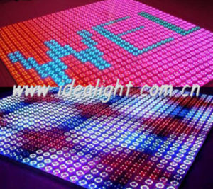 Sensitive 192PCS 10mm Stage Lighting LED Dance Floor