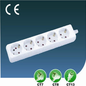 13A EU Style Five Ways Extension Power Extension Socket