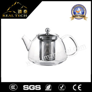 900ml Promotional Wholesale High Borosilicate Heat Resistant Transparent Glass Teapot with Stainless Steel Infuser