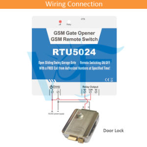 China 2g RTU5024 GSM Gate Opener Relay Switch Remote Access