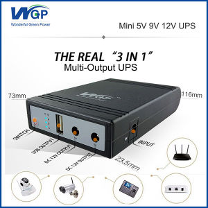 WiFi Router IP Camera UPS Price 18650 Lithium Battery Backup Power Supply  DC Online Portable 5V 9V 12V 1A Mini UPS for CCTV