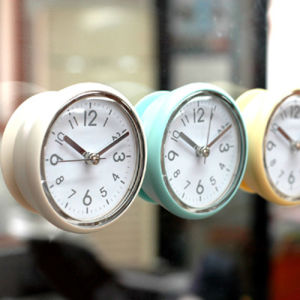 Bathroom Sweep Wall Clocks Shower Waterproof Og Silent Quartz Kitchen Suction