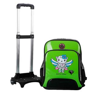 Children Waterproof Rolling Wheel Backpack Trolley School Bag pictures & photos