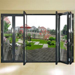 Attirant Thermal Break Front Door Design Middle Open Bifold Door