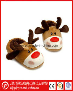 Hot Sale Christmas Deer Toy Slipper pictures & photos