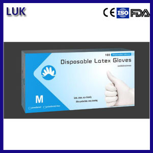 "Exporting Quality 9"" Latex Examination Gloves pictures & photos"