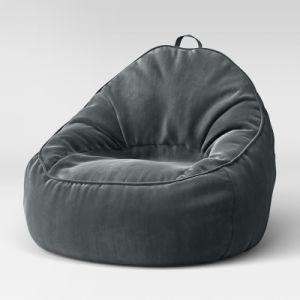 Pleasing Floor Velvet Bean Bag Sofa Chair Spiritservingveterans Wood Chair Design Ideas Spiritservingveteransorg