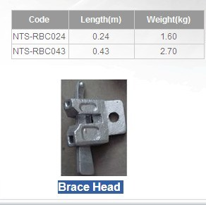 Ring Lock Scaffolding (Brace Head)