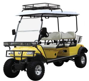 Utility Vehicle Hunting Cart with Roof Basket (DEL2042DL, 4-Seater) pictures & photos