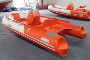 2015 New Model 3.5m Rigid Inflatable Rib Boat 360c Rubber Boat Hypalon with Ce Fishing Boat pictures & photos
