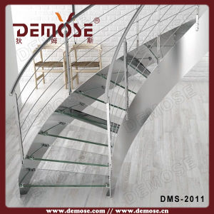 Curved Staircase Stainless Steel Design (DMS-2011)