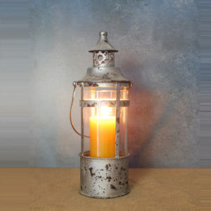 Antique Design Metal and Glass Candle Lanterns