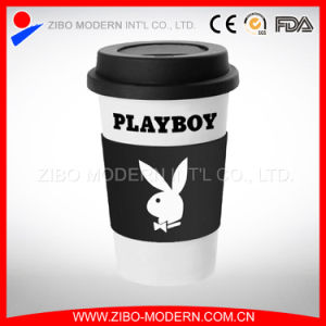 Ceramic Cups and Mugs with Silicone Lid and Band pictures & photos