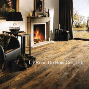 19 Century Reclaimed Elm Wood Floor/Engineered Parquet Flooring