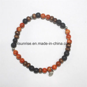 Semi Precious Gemstone Natural crystal Imperial Turquoise Beaded Charm Bracelet pictures & photos