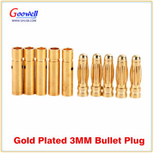 Gold Plated 2mm 3.5mm 4mm 5.5mm Bullet Banana Plug