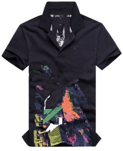 Short Sleeve Custom Fashion Heat Transfer Printing Polo T-Shirt (FY-0315) pictures & photos