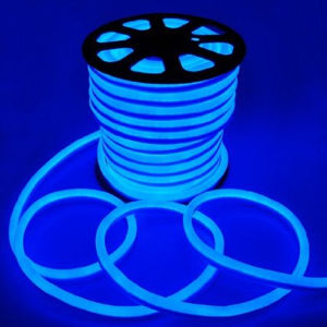 Holiday Outdoor Decorative Flex Neon Led Rope Light Christmas Lighting 50m Roll Green