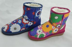 Lady Fashion Leathr Warm Snow Boots (FB-80515) pictures & photos