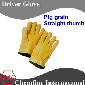 Pig Grain, Straight Thumb Leather Driver Glove pictures & photos