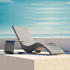 Swimming Pool Lounge Chair / Rattan Sun Lounge Chair (T504)