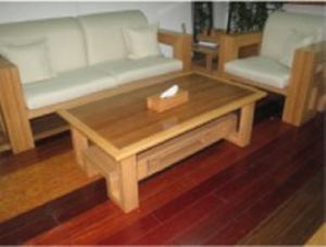 Bamboo Furniture Bamboo 3-Seats Chair Coffee Table Set pictures & photos