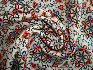 Print Silk Oriental Orers Fabric - Heavy Silk Crepe pictures & photos