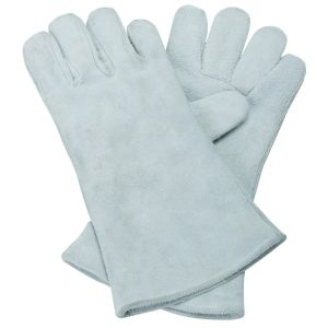 White Leather Working Gloves Safety Producst Equipment