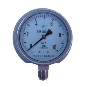 4 Inch-100mm Full Stainless Steel Bottom Pressure Manometer with Bracket pictures & photos
